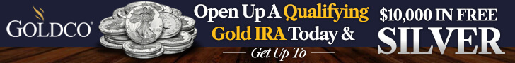 Get up to $10,000 in FREE silver when opening a gold IRA